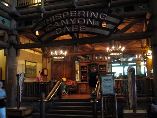 The Whispering Canyon is a fun place to eat.