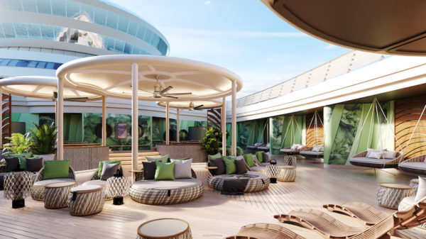 The spa on the Disney Wish will offer an outdoor relaxation area. Photo credits (C) Disney Enterprises, Inc. All Rights Reserved