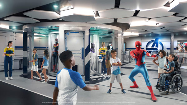 Kids can interact with their favorite superheroes.  Photo credits (C) Disney Enterprises, Inc. All Rights Reserved