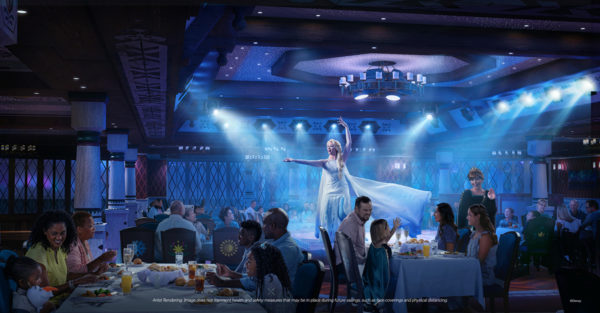 The Disney Wish will feature the first Fozen-themed dinner and entertainment experience.  Photo credits (C) Disney Enterprises, Inc. All Rights Reserved