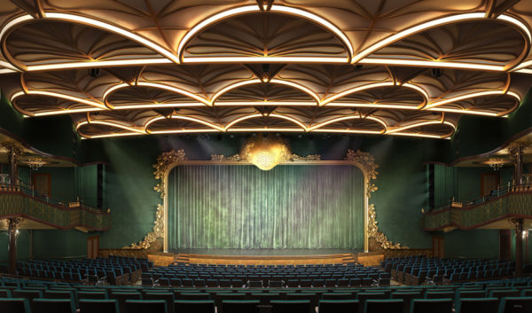 The ship's main theater will have a forest theme.  Photo credits (C) Disney Enterprises, Inc. All Rights Reserved