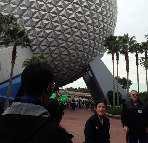 Seeing Spaceship Earth without the throngs of people around was a truly magical experience.