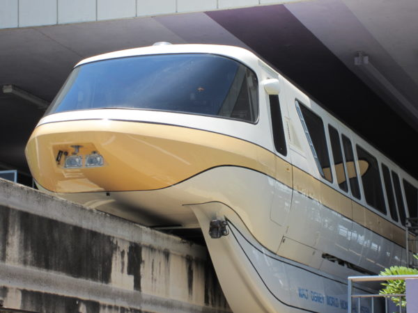 The monorail takes you from the real world to the fantasy worlds that await at Disney.