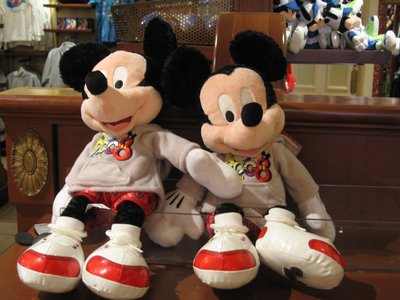 Disney has a nearly limitless supply of souvenirs, like these Mickey Mouse plushes.