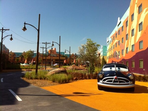 One of the sections of this resort is dedicated to Disney's Cars! Welcome to Radiator Springs!