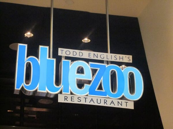 Fresh seafood served in an unforgettable setting provided by Chef Todd English at the Blue Zoo!