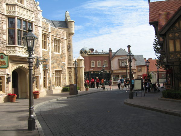 Imagineers managed to put all of the classic British architecture in one small village.