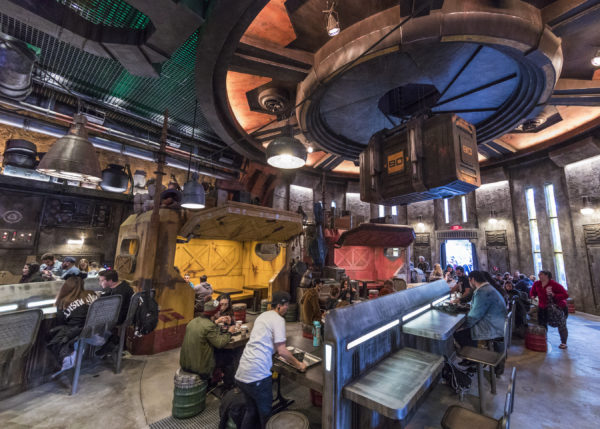 Docking Bay 7 is the sit down restaurant in Galaxy's Edge. Photo credits (C) Disney Enterprises, Inc. All Rights Reserved