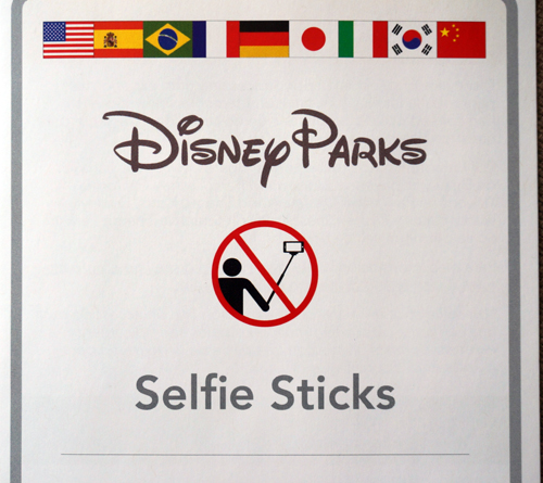 Leave your selfie-sticks at home!