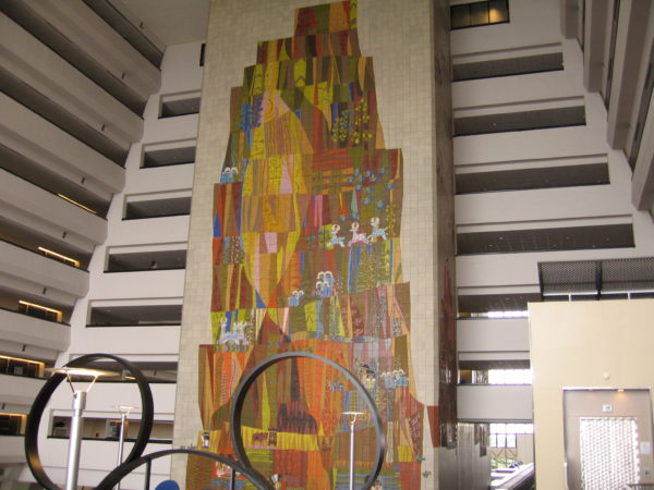 One thing that is unchanged is the beautiful Mary Blair mural spanning the height of the hotel!