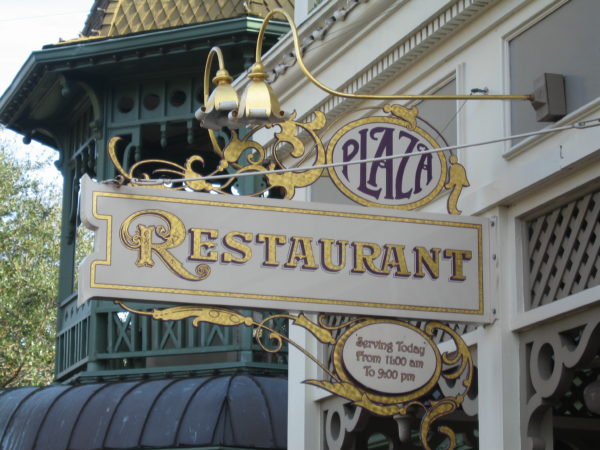 The Plaza Restaurant doesn't have characters, but it does fit the theme of Main Street USA as a turn-of-the-century dining location.