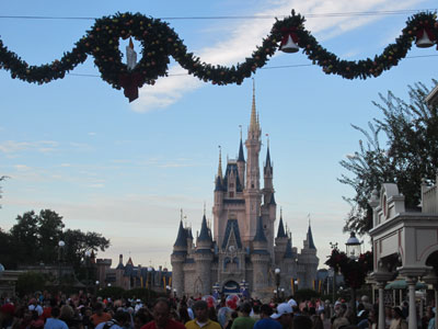 Cinderella Castle is ready for Christmastime.