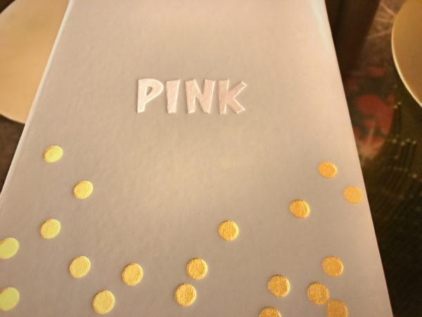 Even the Pink menu is pretty!