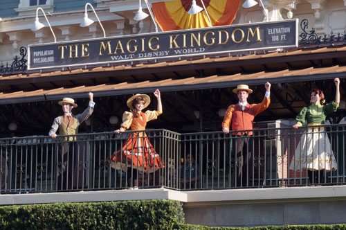 The Magic Kingdom Welcome Show is a great reward for an early start to your day.