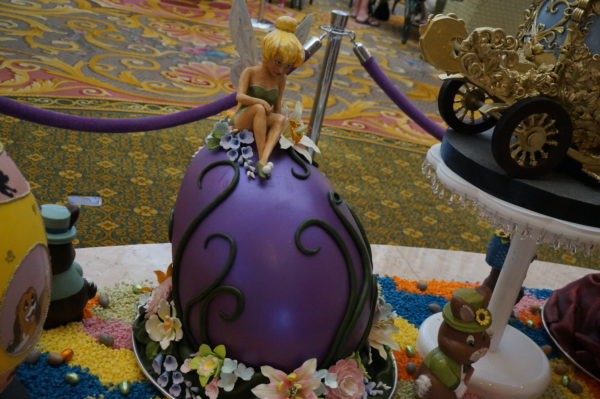 The Grand Floridian has an impressive display of chocolate eggs decorated in a variety of themes.