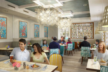 Original concept art of Sebastian's Bistro. Photo credits (C) Disney Enterprises, Inc. All Rights Reserved