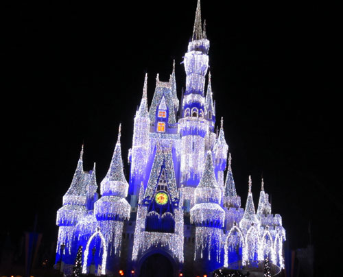 Elsa will turn on the Cinderella Castle Dream Lights.