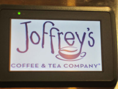 Coffee and tea are by Joffrey's.