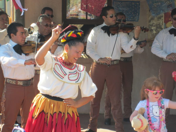 Your first show stop in Epcot World Showcase is Mariachi Cobre in Mexico!
