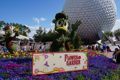 Donald and friends welcome you to Epcot.