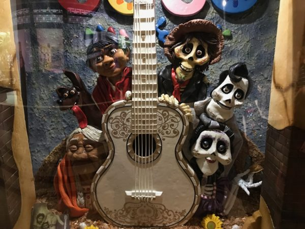 Characters from the movie Coco, made from chocolate.