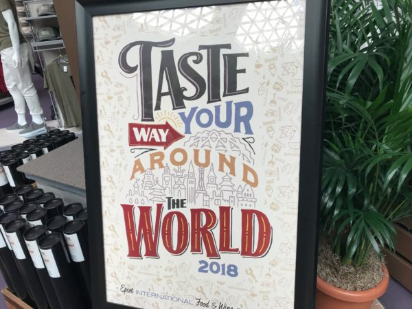 Taste your way around the world poster for the 2018 festival.