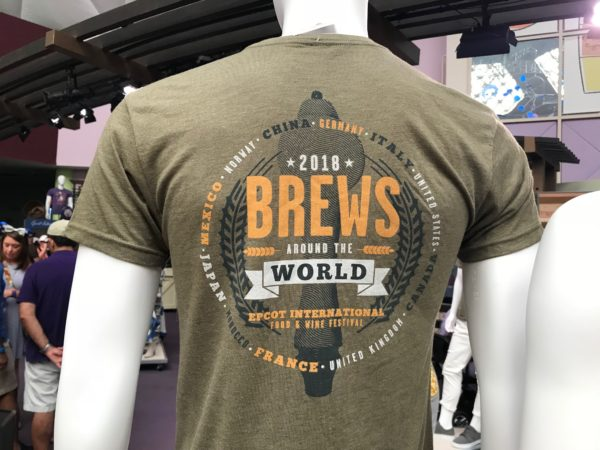 Brews around the World men's shirt.