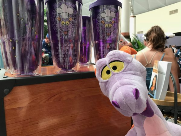 Figment plush and cups.