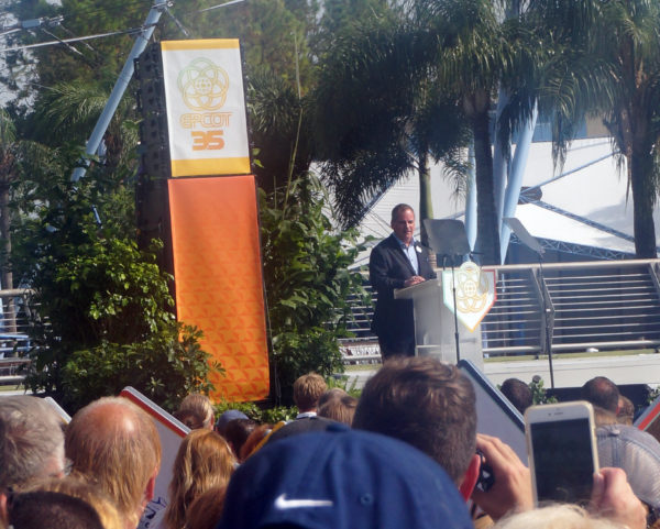 George Kalogridis, President of the Walt Disney World Resort, gave a short speech along with a few others.