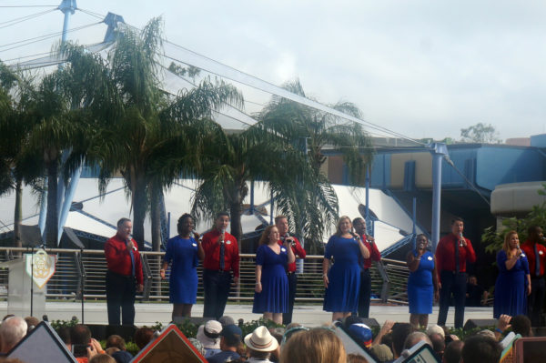 The always-amazing Voices of Liberty sang a special melody of Epcot songs.