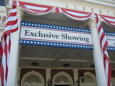Disney presents the history of America in The American Adventure.