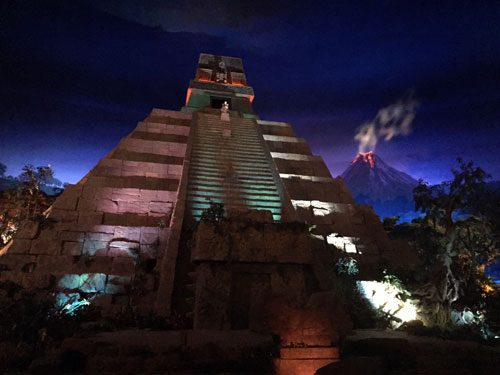 It's always nighttime inside the Mexico pavilion.