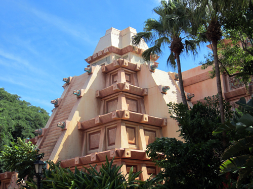 The Mayan Temple of World Showcase's Mexico Pavilion is one of the first things you'll see when you enter from Future World.