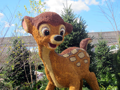 This cute Bambi topiary greets you at the entrance to the park.