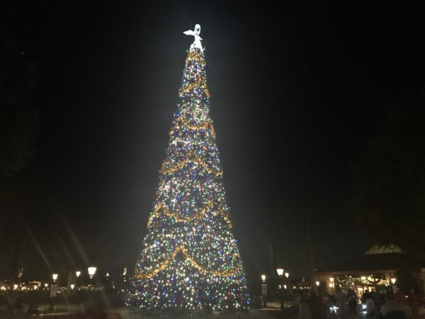 The EPCOT Christmas tree looks great as always.