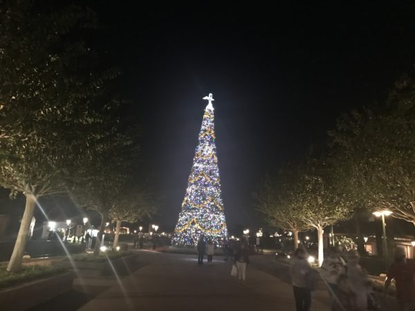 The tree welcomes you to World Showcase.