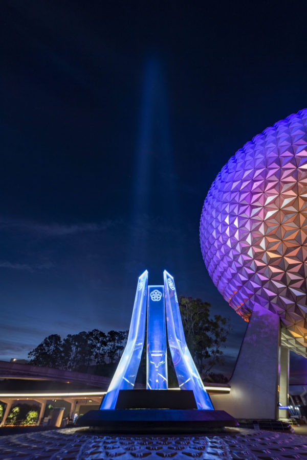 A powerful new liquid-cooled light sits at the center of the fountain. Photo credits (C) Disney Enterprises, Inc. All Rights Reserved