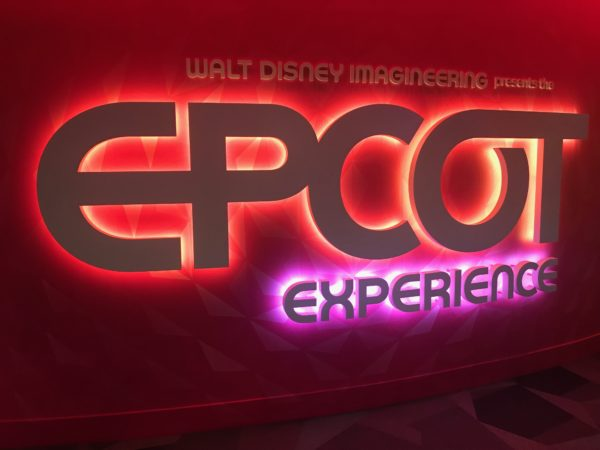 This sign is cool! The Epcot Experience.