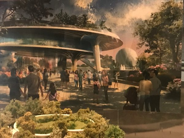 Here is the concept art for the festival center, which will be in the front of the park - not far from Spaceship Earth.
