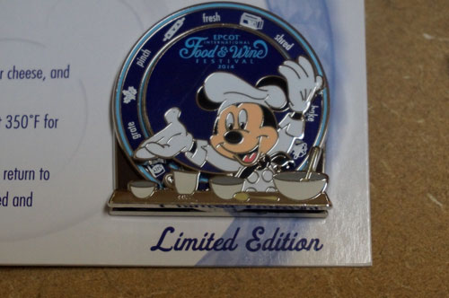 Mickey Mouse trading pin.