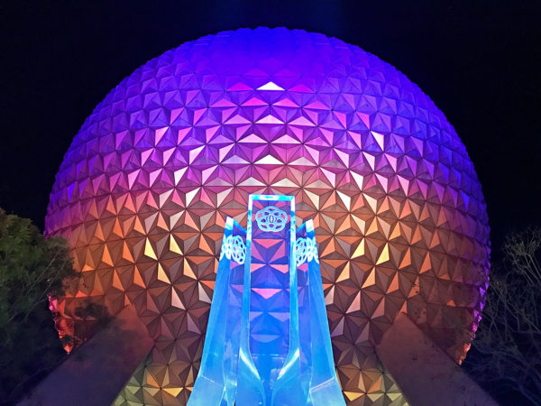 The EPCOT Fountain looks great!