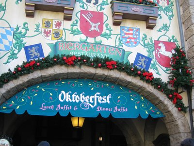 It's Oktoberfest very day at the German Biergarten Restaurant.