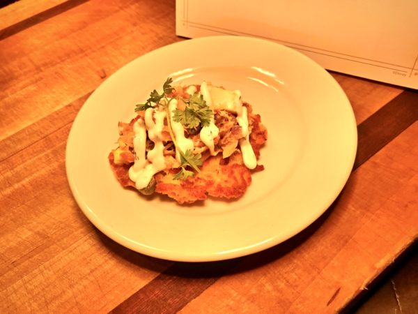 Smoked Salmon Potato Latke. Featured in the L'Chaim Marketplace.