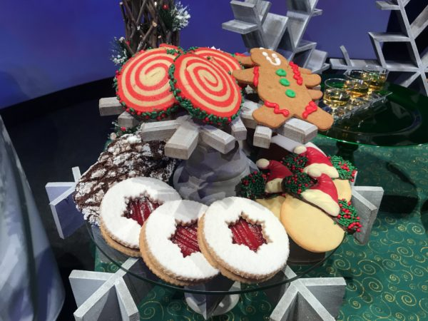 Sampling of the different cookies featured on the Holiday Cookie Stroll.