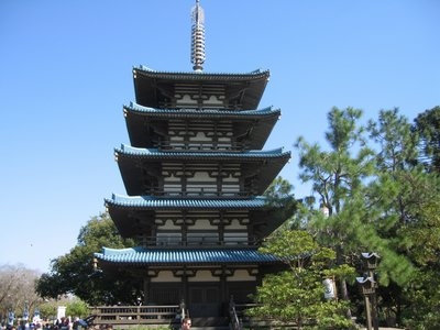 The pagoda in the Japan Pavilion is host to the taiko drums.