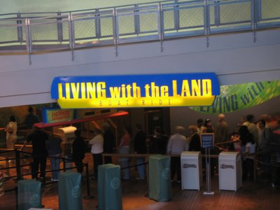 Entrance to Epcot's Living With The Land boat ride.