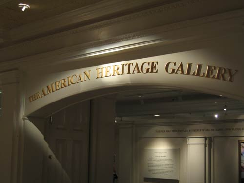 The American Heritage Gallery is home to fascinating exhibits.