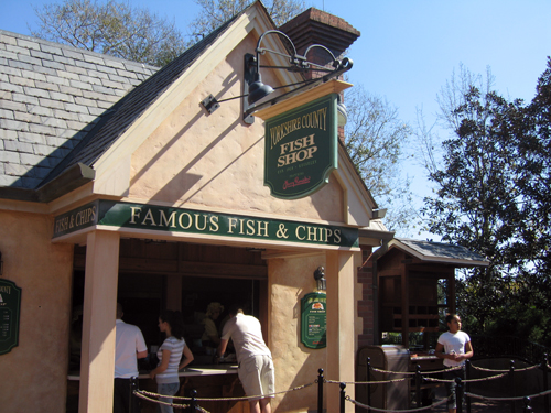 Get your classic fish and chips meal in the UK pavilion.