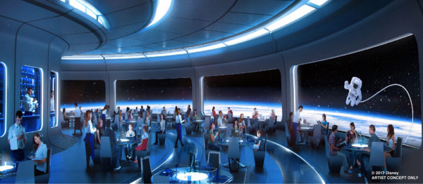 The new space-themed restaurant at Epcot will be located between Mission: Space and Test Track. Photo credits (C) Disney Enterprises, Inc. All Rights Reserved.