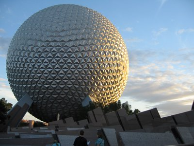 The Spaceship Earth building is breathtaking day and night.